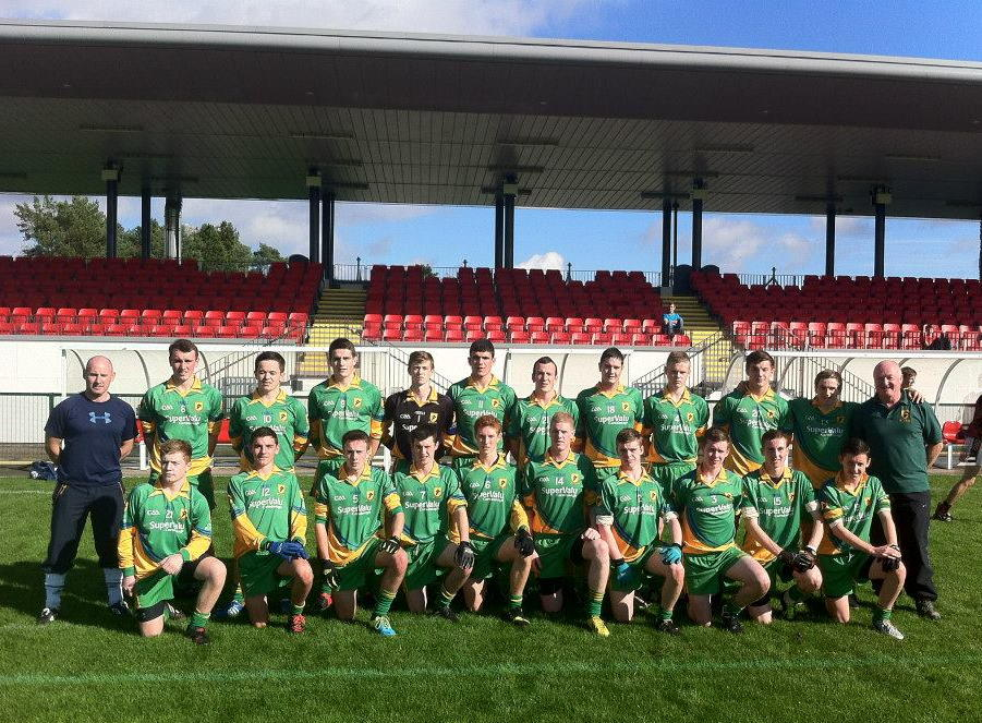 Coláistí Inis Eoghain McLarnon Cup team pictured at the Queen's blitz in October