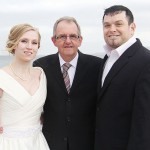 US couple get married on Moville Pier