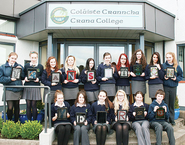 Transition Year students at Crana College pictured with their new iPads.