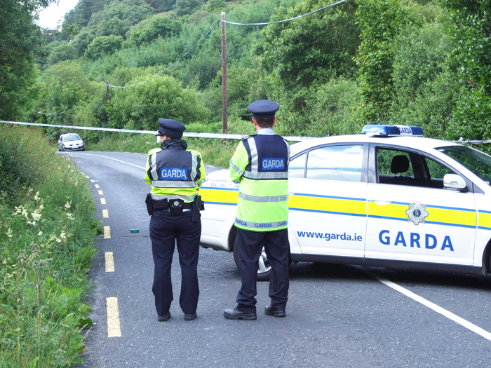 Guards at scene of Clonmany crash