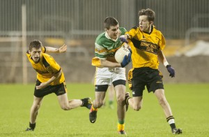 Buncrana's Caolan McGonagle in action during last year's Donegal minor final against St Eunan's