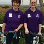 Claire, Aine get on their bikes for cancer charities