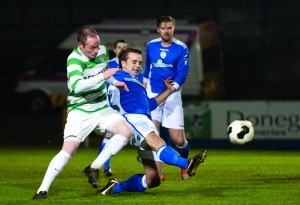 Gerry Gill in action against Finn Harps in the EA Sports Cup earlier this season.
