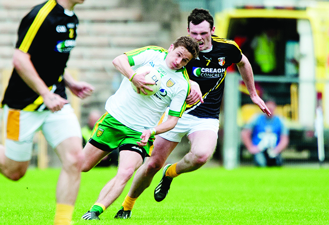 Darach O'Connor on his way to goal during Sunday's semi-final. Photo Evan Logan