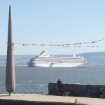 Luxury cruise liner leaves local lady at her doorstep