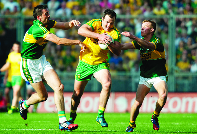 Michael Murphy in full flight during Sunday's final. Photo Evan Logan