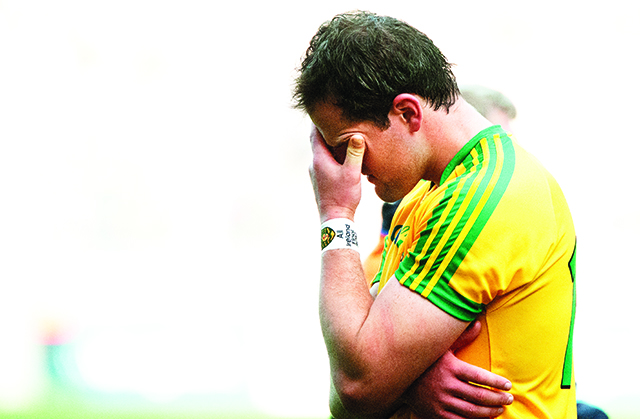 A dejected Michael Murphy after Sunday's final. Photo Evan Logan