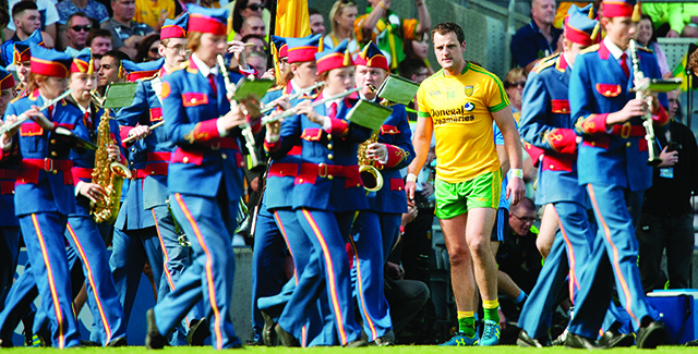 Michael Murphy makes his entrance during Sunday's game. Photo Evan Logan