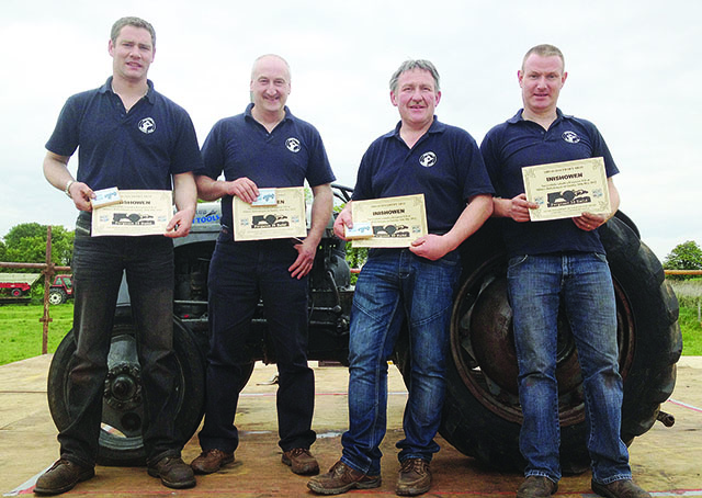 Expert tractor builders, Brian Kelly, Joey Lyle, Noel Doherty and Paddy Barr.