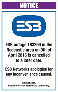ESB Redcastle outage postponed