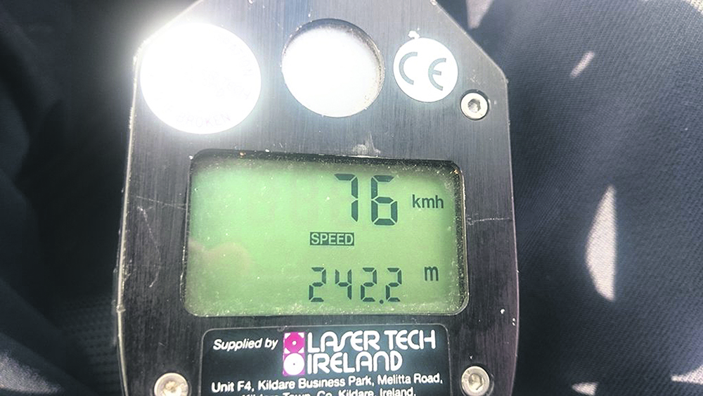 One speeder was detected travelling at 76kph in a 50 zone past a Buncrana school on Friday