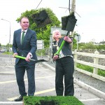 McHugh and Donaghey turn sod on new bridge