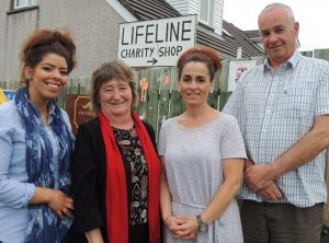 Lifeline Inishowen in Carn survives on community goodwill and dedicated volunteers. Pictured here, from left, are: Catherine O'Donnell, support worker, Mary Doherty, coordinator, Susan Donaghy, administration, and Cathal Monaghan, development worker.