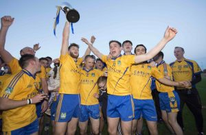 Burt celebrate their first ever Intermediate Championship win.