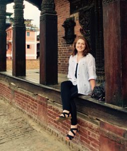 Kirstin O'Regan, from Fahan, pictured in Nepal, where she helped rebuild a school following a devastating earthquake.