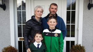 Eoghan Mac Dh—naill pictured with his sister Muireann, and parents Trina and Tadhg.