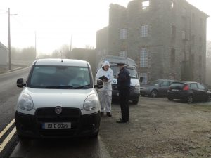 Garda forensics at the scene in Buncrana on Friday morning.