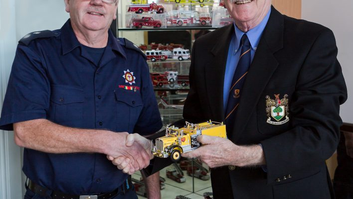 Miniature fire engine collection in Carn
