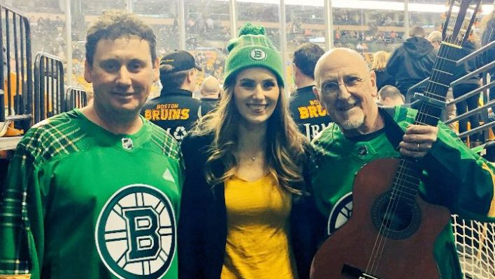 Ice cool Malin buck sings Star Spangled Banner for the Bruins