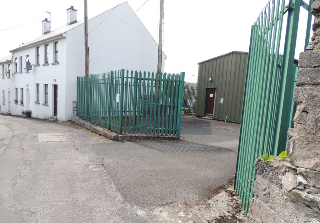 The site of the planned new telecommunications mast in Moville.